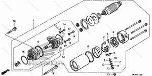 Honda Motorcycle 2005 Oem Parts Diagram For Starter Motor