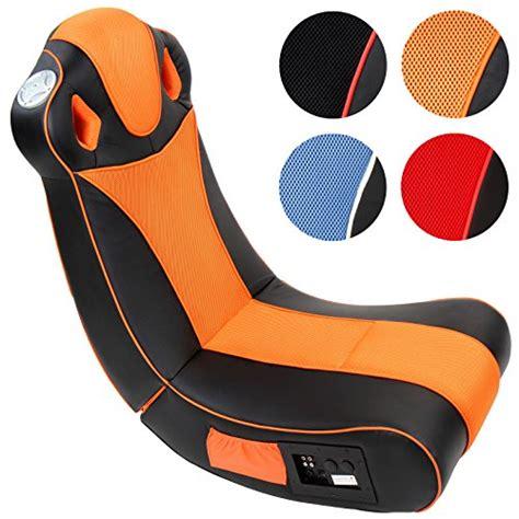 siege multimedia fauteuil multimédia noir et orange pliable h p l env
