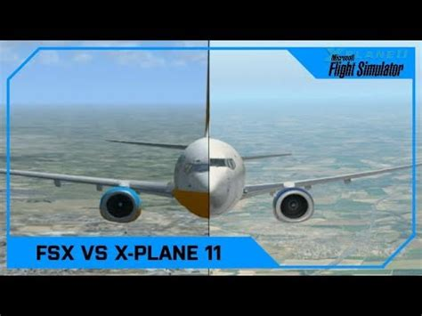 Microsoft Flight Simulator X vs X-Plane 11 (Vanilla, No ...