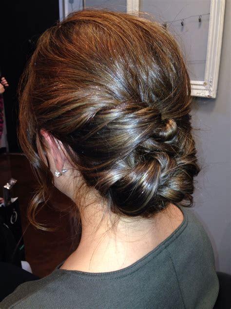 medium length hair updo simple finger rake with twisted