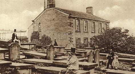 Haworth Parsonage in the days of the Brontes stock image ...
