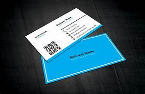 Blue white business card template free download for Blue business card template