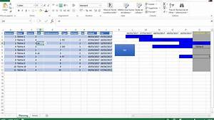 Diagramme De Gantt -  U00e9volution 2