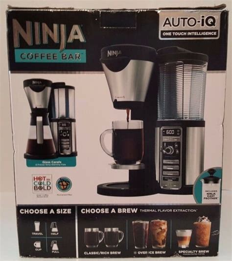 Ninja specialty coffee maker, with 50 oz glass carafe, black and stainless steel finish. Ninja - Coffee Bar Brewer CF081 with Glass Carafe - Stainless Steel/Black for sale online | eBay