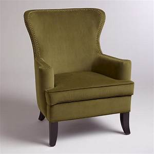 green wing chair slipcover chairs seating With furniture covers for wingback chairs