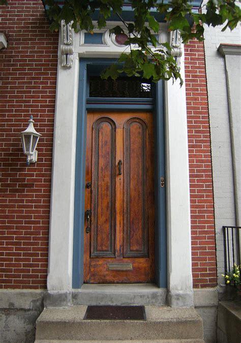 custom radius  panel solid wood front door