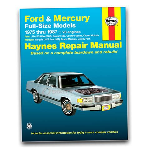 free car manuals to download 1986 mercury marquis engine control ford ltd haynes repair manual landau country squire crown victoria brougham ip ebay