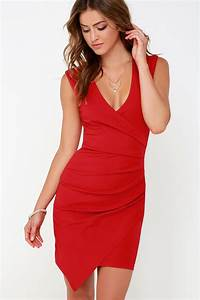 red dress sleeveless dress wrap dress 8400 With robe rouge elegante