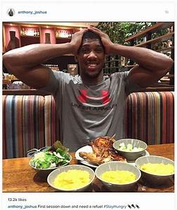 Anthony Joshua stops off for cheeky Nando's meal as ...