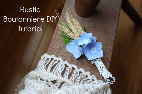 31 Rustic Diy Home Decor Projects: Rustic Boutonniere DIY Tutorial
