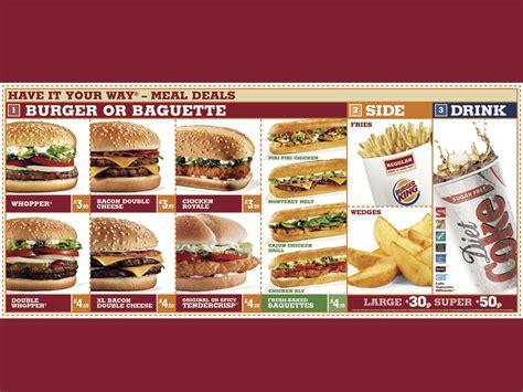 Sofa King Burger Menu by Burger King Quot Menu Board Quot