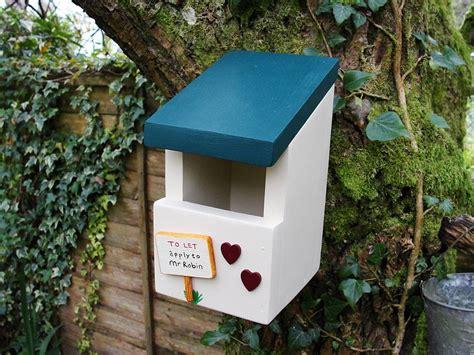 personalised handcrafted robin bird box  siop gardd notonthehighstreetcom
