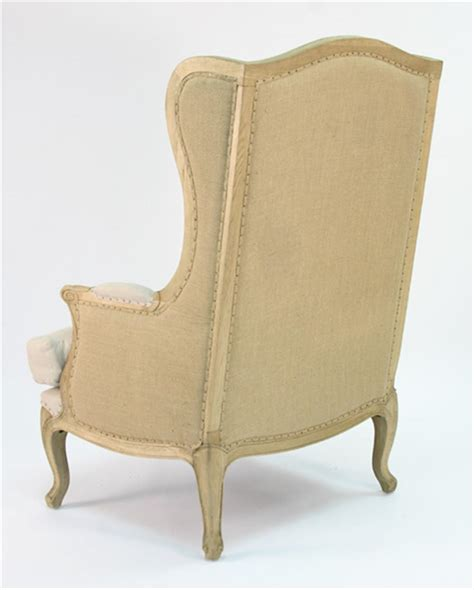 country high back linen wing chair kathy kuo