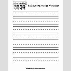 Kindergarten Blank Writing Practice Worksheet Printable  Writing Worksheets  Writing Practice