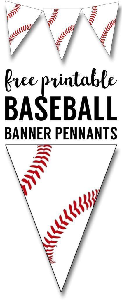 printable baseball banner baseball party decorations