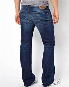 Eleven Paris Designer Diesel Jeans Zatiny Bootcut 8xr Mid Wash In Blue For Men