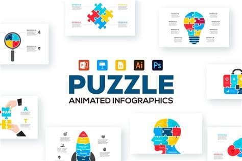 Ajax, animated, animated icons, animated svg, animation, flexible, greensock, gsap, looping animation, responsive, retina, snap svg, svg, svg icons, vector iconssee all tags. Puzzle Animated Infographics (With images) | Infographic ...