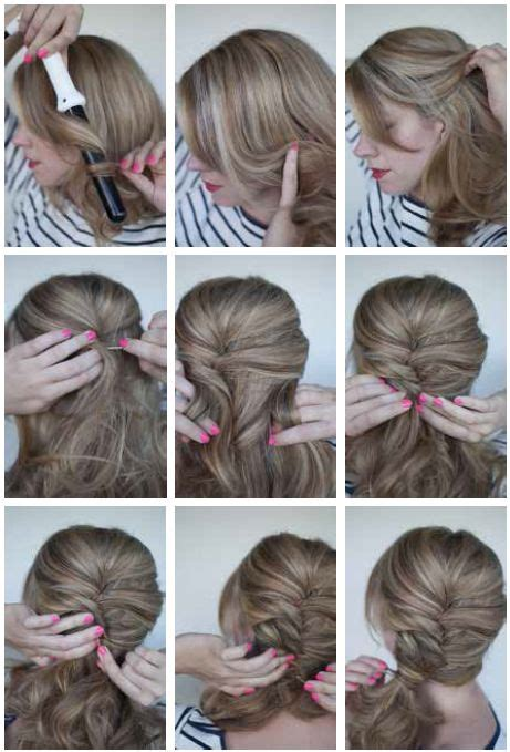curly side ponytail  step  step instructions