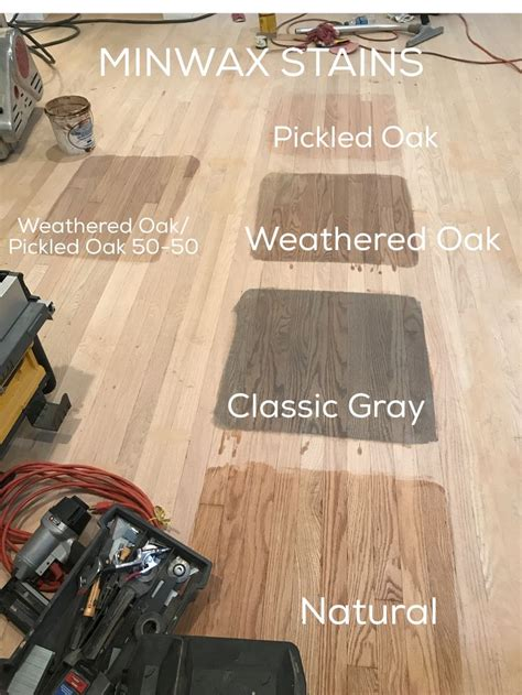 minwax stains    pickled oak weathered