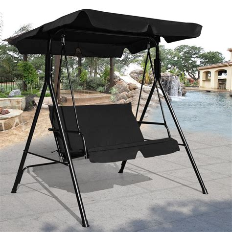 Loveseat Swing Outdoor by Loveseat Patio Canopy Swing Glider Hammock Cushioned Steel