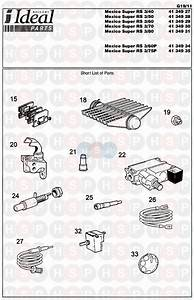Ideal Mexico Super 3 Rs 125  First Line Spares 1 Diagram