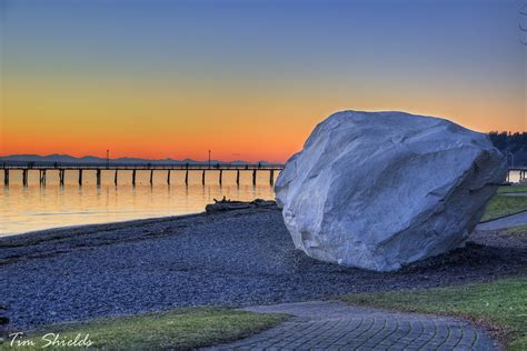 the white rock and pier in white rock bc this is a