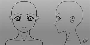 anime girl model head template 01 by johnnydwicked on With manga character template