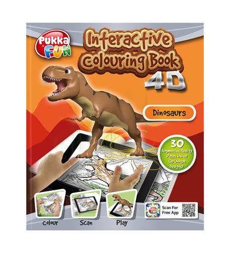 pukka fun  augmented reality interactive colouring book dinosaurs ebuyer