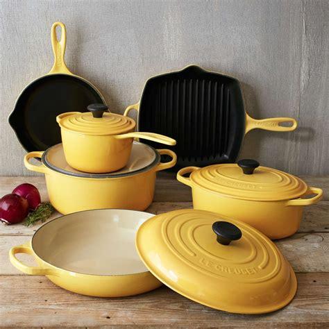 creuset le cookware piece signature iron cast glass kitchen sets honey table cooking bakeware sur things stoves cuisine pots pot