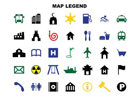 free map legend vector download free vector art stock