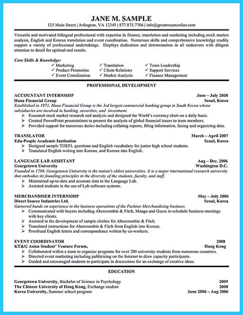 sle for writing an accounting resume