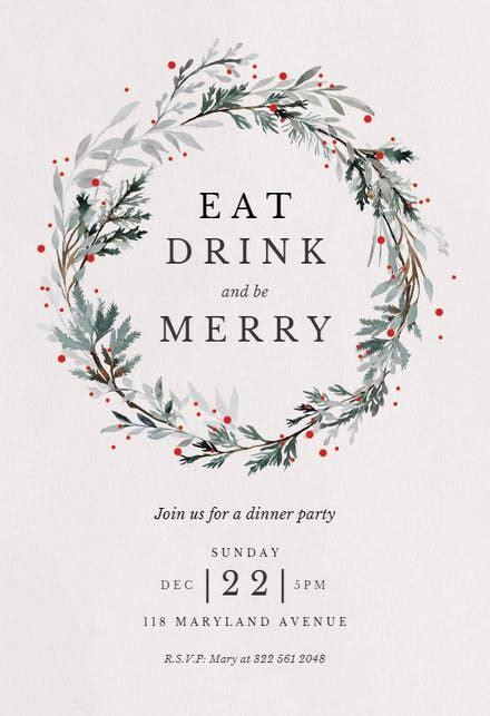 christmas party invitation templates   island