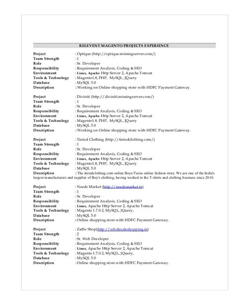 php 3 years experience resume resume ideas