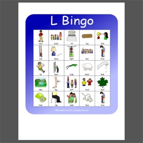 l words and pictures printable cards leaf legs initial l cvc bingo