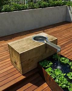 Bassin De Terrasse : d coration de jardin avec une fontaine pour bassin ~ Premium-room.com Idées de Décoration