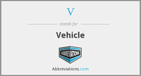 What Is The Abbreviation For Vehicle?