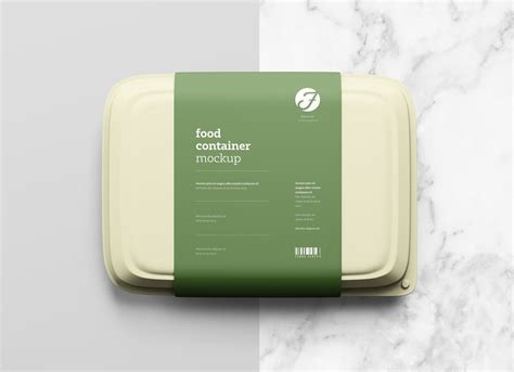 This free snack package mockup is created by aleksey volos, and it showcases one single bag from a top view which allows your designs to be as clear as possible. Free Plastic Food Box Packaging Mockup PSD - Good Mockups