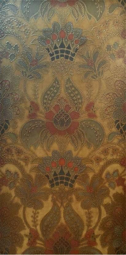 Leather Antique Tooled Elaborate Birge Mounted Panel