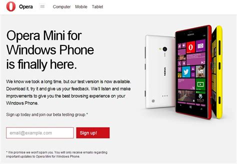 opera mini beta for windows phone is here techcabal