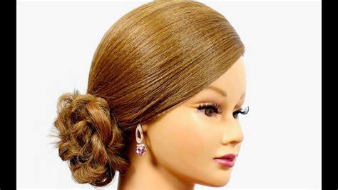 romantic hairstyle  medium long hair easy updo