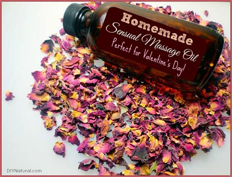 homemade massage oil perfect  valentines day