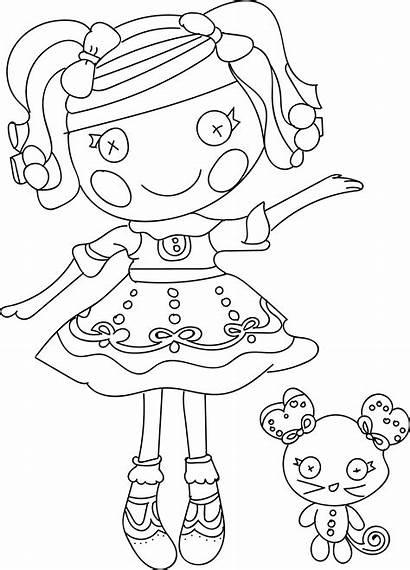 Coloring Pages Doll Rag Lalaloopsy Cartoon Lulav