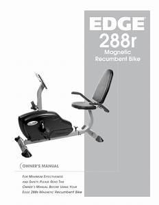 Edge Recumbent Bike Owner S Manual