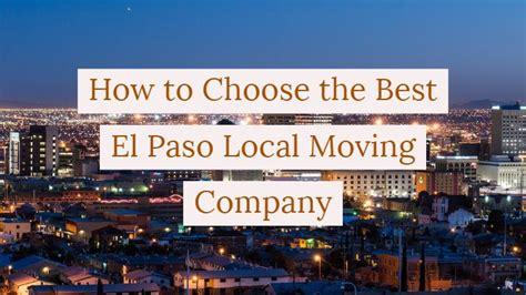 choose   el paso local moving company