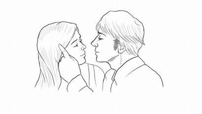 Kissing Kiss Drawing Lips Animation Animated Drawn