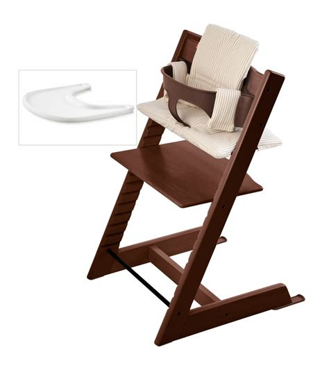 chaise trip trap stokke tripp trapp bundle walnut beige stripe