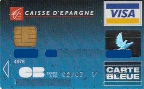 bank card carte blue caisse d epargne col fr vi 0002 krz sagem 07 05 053191