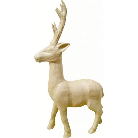large paper mache reindeer craftyartscouk