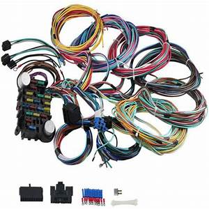 Universal 21 Circuit Wiring Harness Fit For Chevy Ford Hot