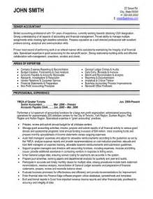 free resume template for accounts receivable clerk resume senior accountant resume sle template